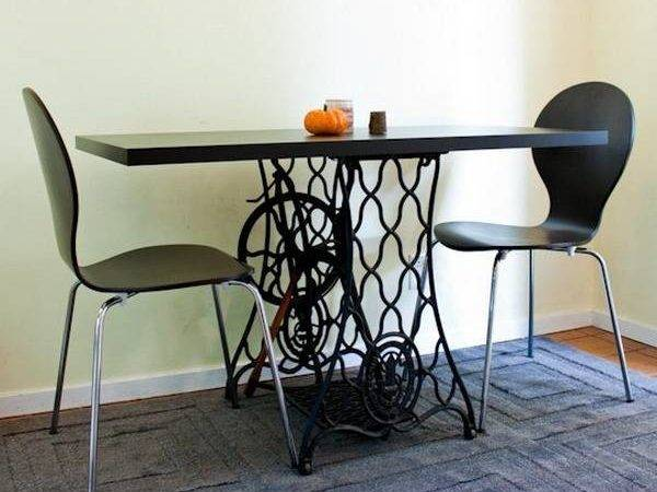 Ways Reuse Recycle Old Sewing Machine Dining Tables
