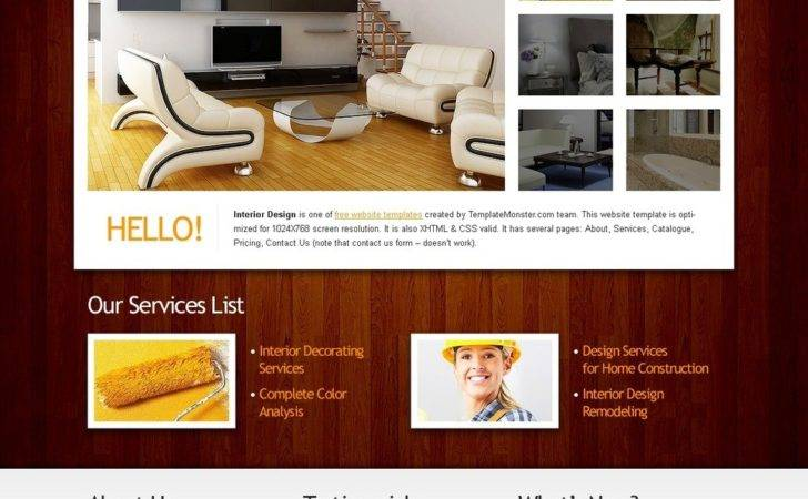 Website Template Clean Style Interior