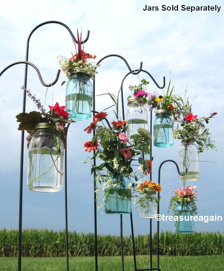 Wedding Aisle Mason Jar Diy Hanging Flower Vases Lanterns