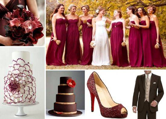 Wedding Autumn Theme Fall Colors Burgundy