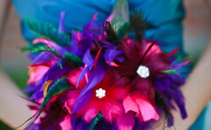 Wedding Jewel Toned Teal Turquoise Fuchsia Pink Cranberry
