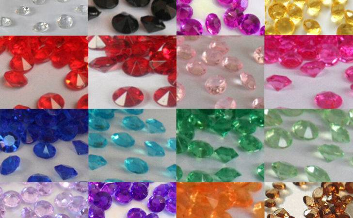 Wedding Party Table Gems Confetti Decorations Crystals