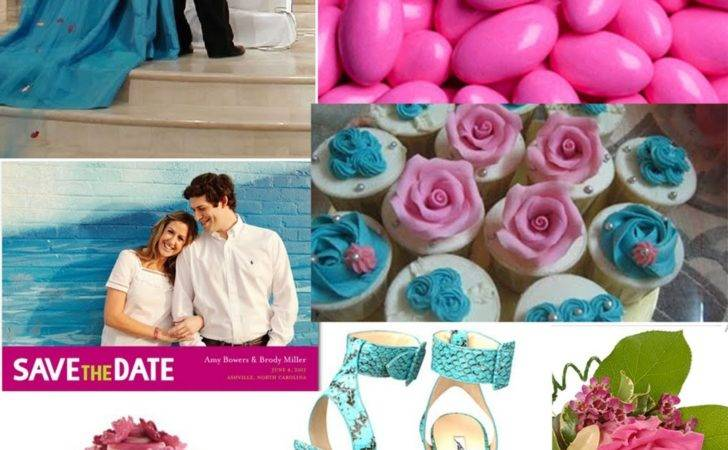 Weddingzilla Turquoise Pink Wedding Inspiration Board