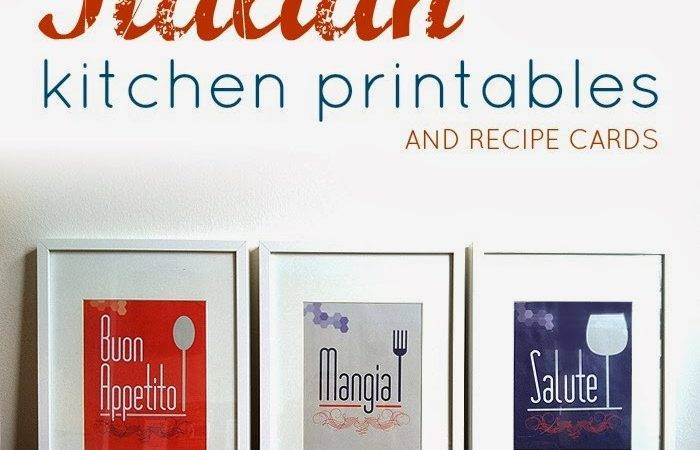 While They Snooze Italian Themed Kitchen Printables Recipe Cards