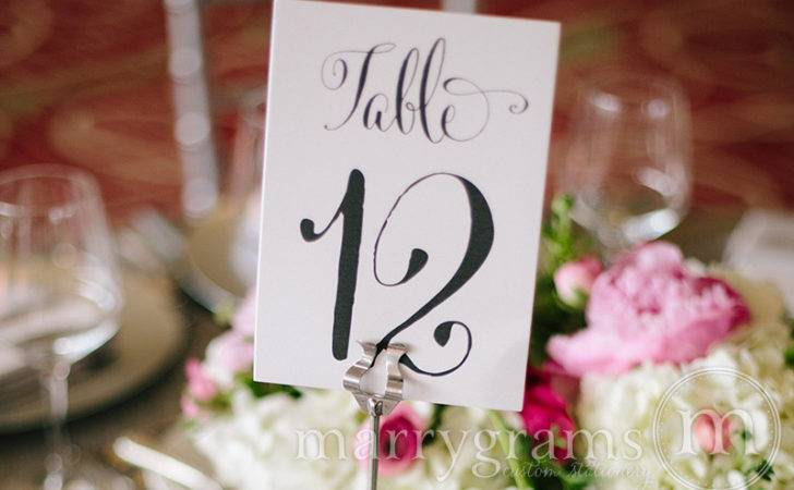 Whimsical Style Vertical Table Numbers