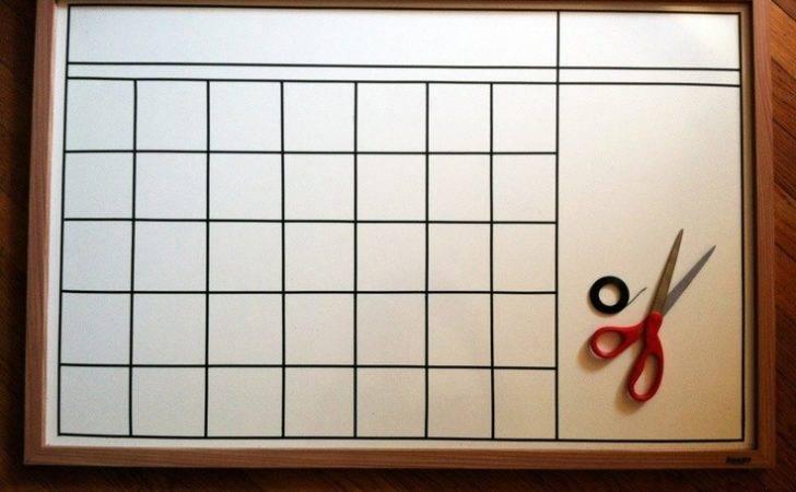 White Board Calendar Template