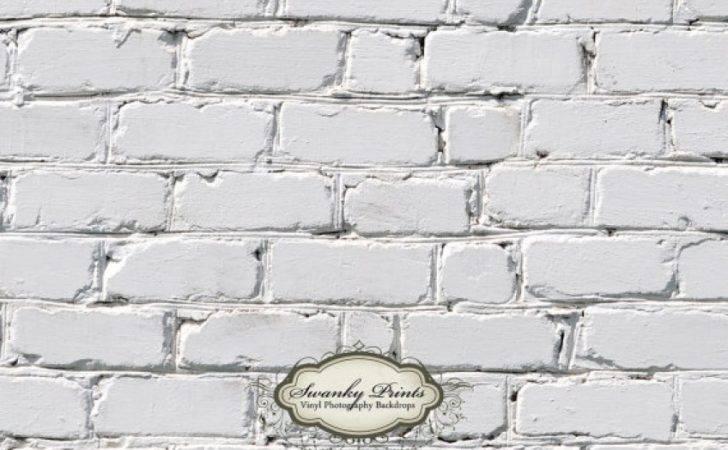 White Brick Vinyl Photography Backdrop