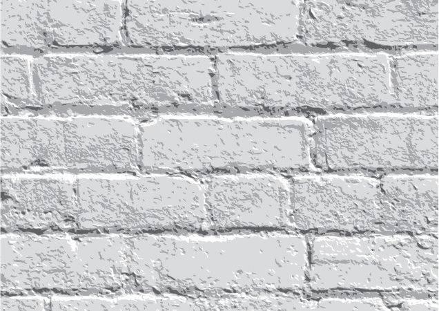 White Brick Wall Vector