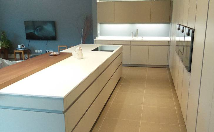 White Corian Kitchen Worktop Installation Leamington Spa