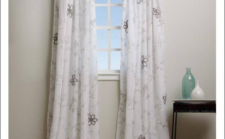 White Cotton Lace Curtain Panels Curtains Home Design