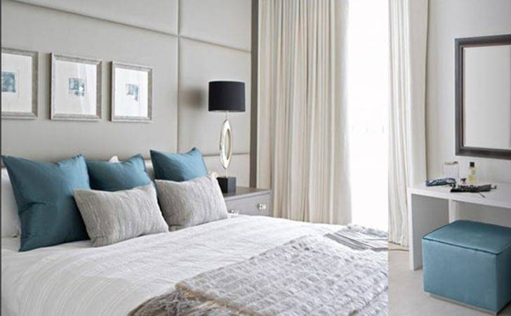 White Curtains Windows Decorate Elegant Master Blue Bedroom Ide