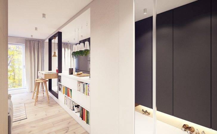 White Custom Room Divider Interior Design Ideas