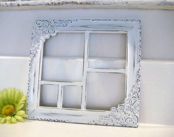 White Frame Collage Shabby Chic Nursery Decor