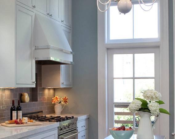 White Gray Kitchen Design Cabinets Subway