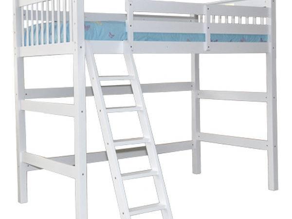 White Humboldt Twin Loft Bed Children Furniture Beds