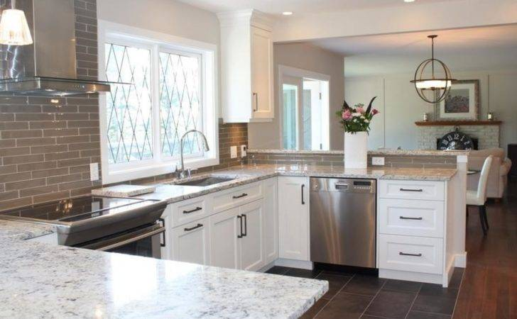 White Ice Granite Kitchen Grey Tile