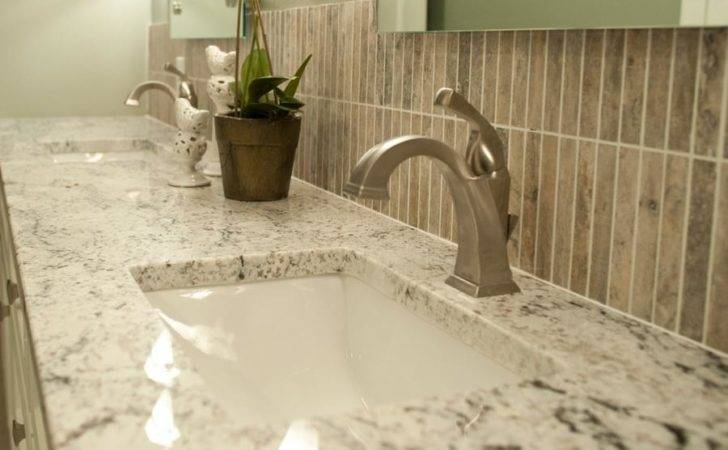 White Ice Granite Powder Room Decoist