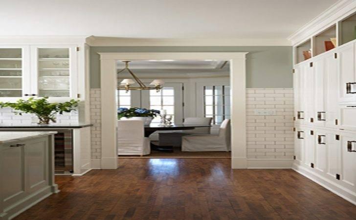 White Kitchen Green Walls Sage Cabinets