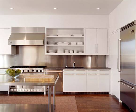 White Kitchen Stainless Steel Appliances