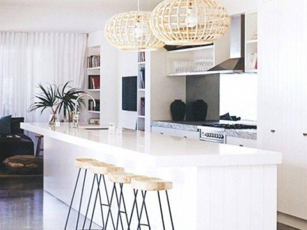 White Kitchen Tropical Pendant Lights Modern Style