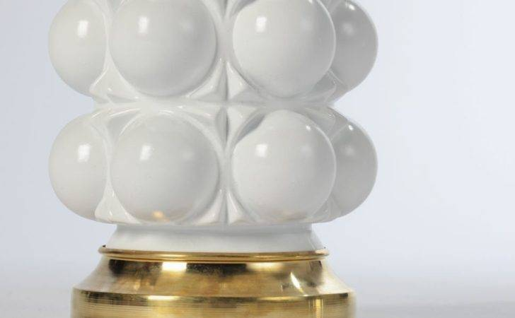 White Lacquered Glass Bubble Lamps Sale Stdibs