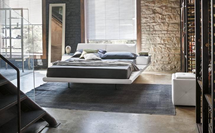 White Low Platform Floating Beds