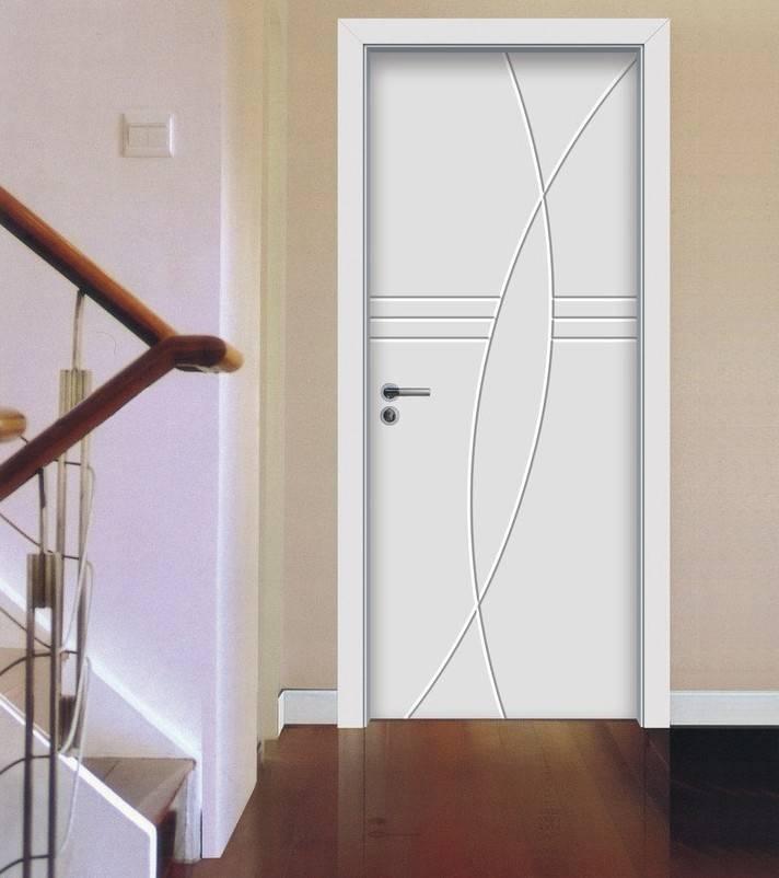 White Minimalist Room Door Villa House