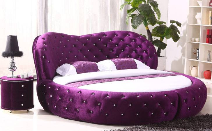 White Purple Cheap King Hot Sell Round Beds Sale
