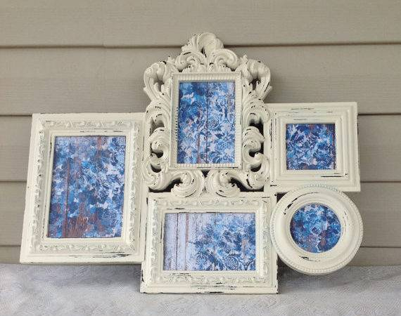 White Shabby Chic Frame Collage Large Wall