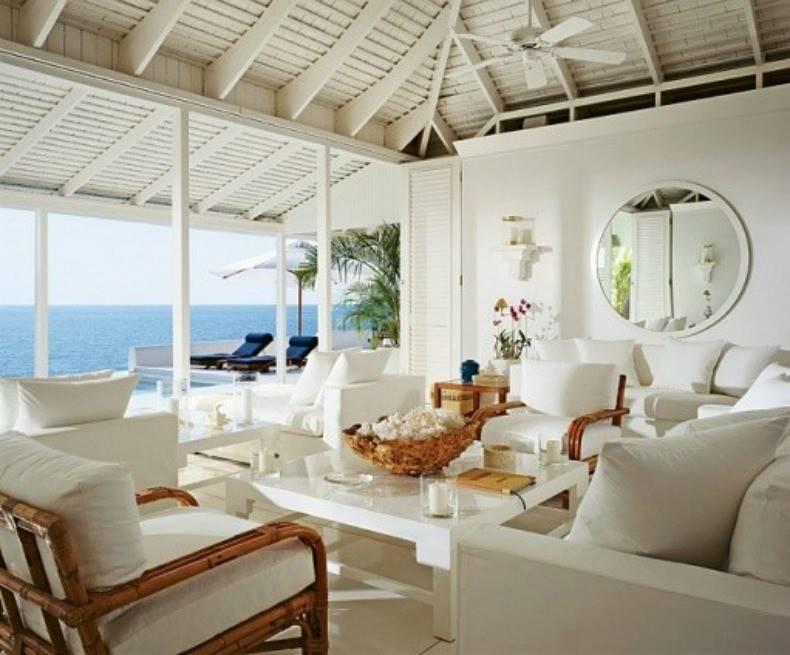 White Slipcover Sofas Chairs Rattan Lounge Create Clean