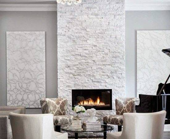 White Stone Fireplaces Fireplace Ideas