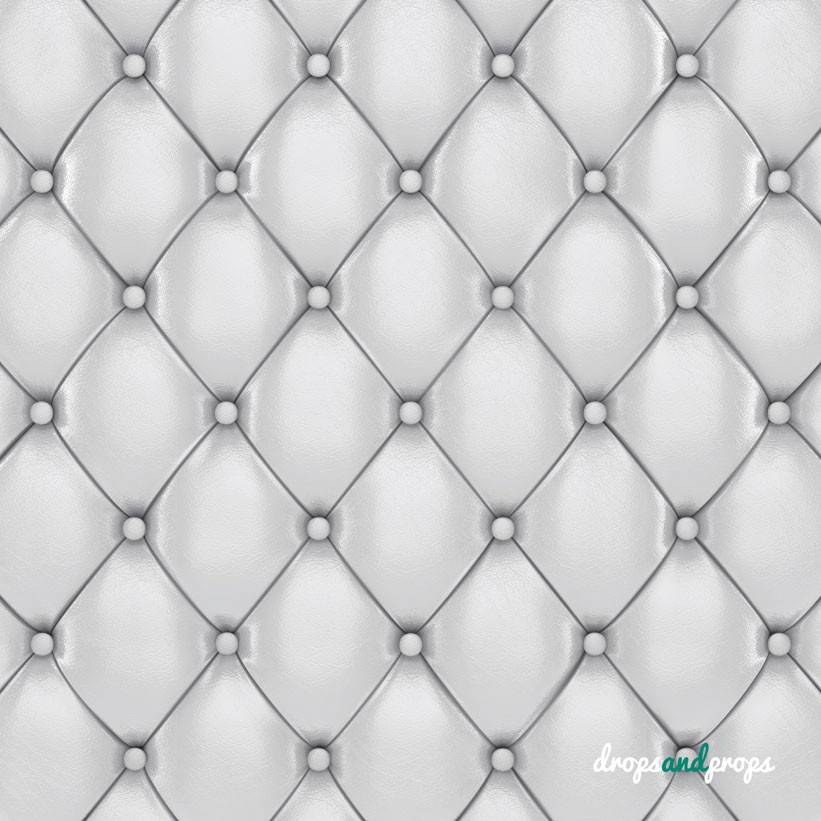 White Tufted Cushion Photography Backdrop Drops Props