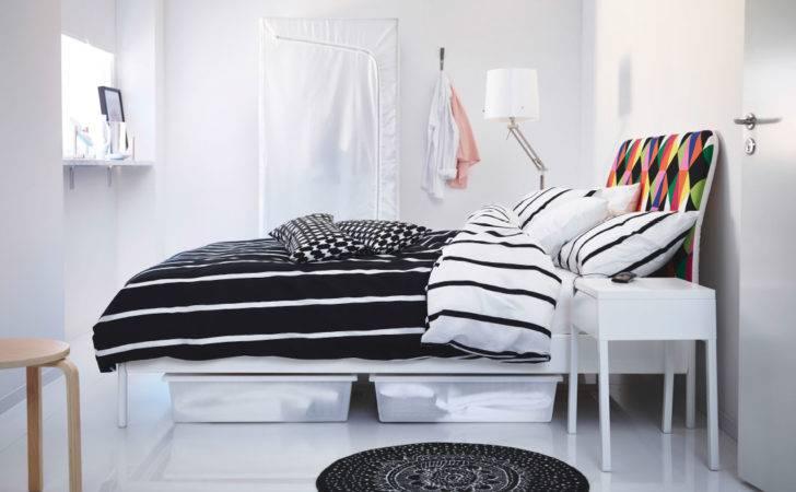 White Tuvbr Cka Bed Duken Linen Black