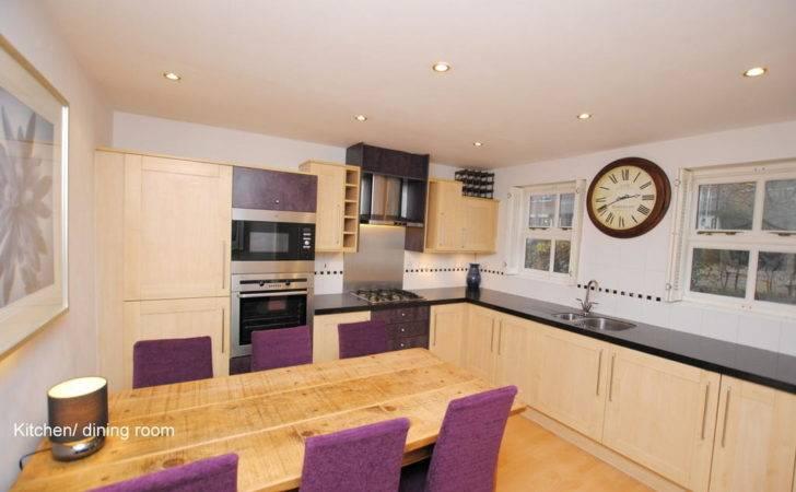 White Wall Purple Modular Kitchen Design Home Advice
