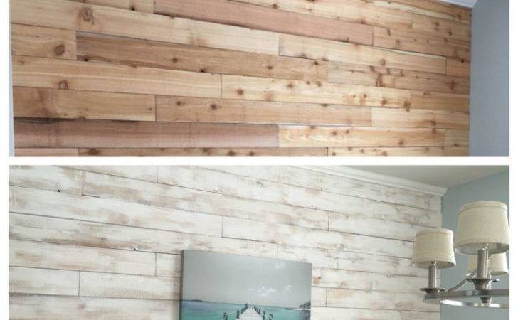 White Washed Wood Wall Made Cedar Fence Boards Nap Time