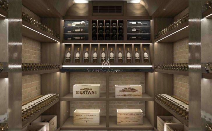 White Wine Cellar Oak Storage Display