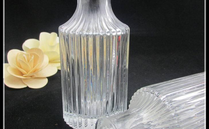 Wholesale Fancy Clear Pudding Glass Bottles Plastic Lid