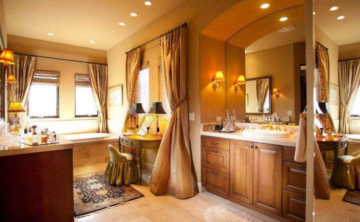 Why Having Bathroom Vanity Seating Area Ward Log Homes