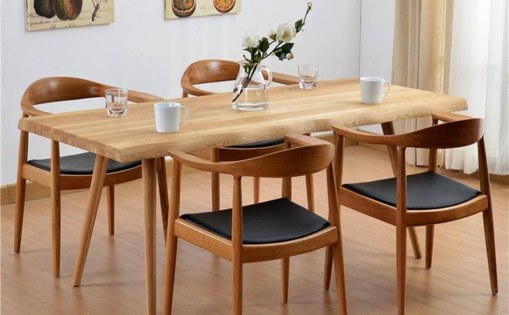 Wild Oak White Wood Dining Table Modern