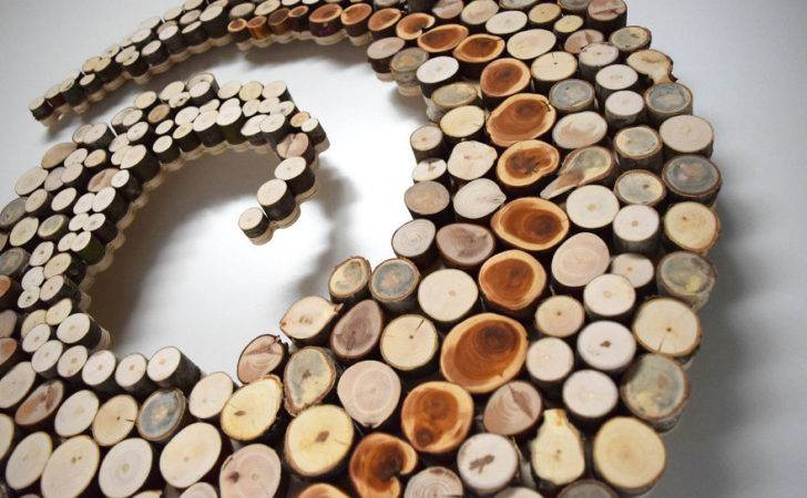Wild Slice Designs Make Wall Sculptures Reclaimed Wood Bored