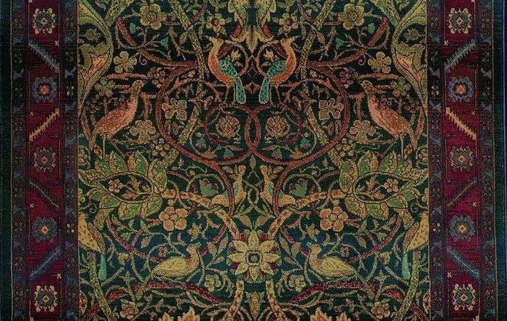 William Morris Arts Crafts Mission Style Multi Colored Area Rug
