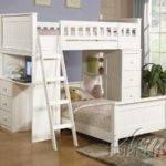 Willoughby White Loft Twin Bunk Bed All American Furniture Buy