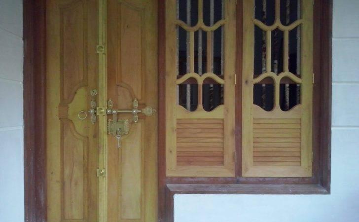 Window Attached Left Side Work Wooden Door