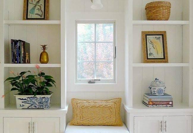 Window Seat Between Bookcases Ikea Shelves Ottomans