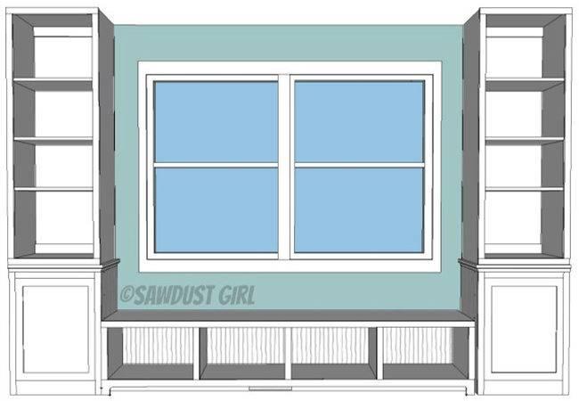 Window Seat Bookcase Plan Decoist
