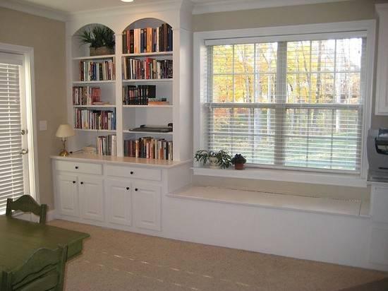 Window Seats Bookshelves