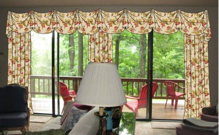 Window Treatment Ideas Sliding Glass Doors Kitchen Tray Ceiling