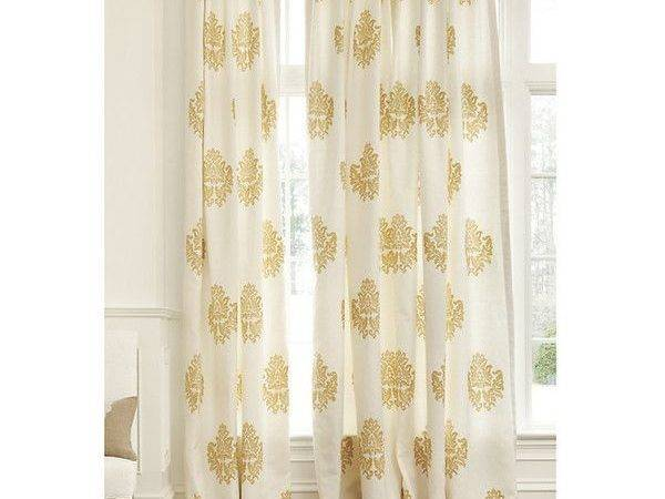 Window Treatments Curtains Tuscan Gold Lining Damask