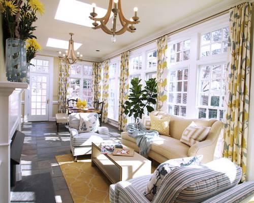Window Treatments Sunroom Modern Design White Ceiling Elegant