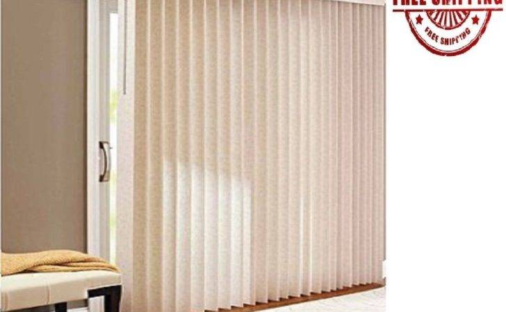 Window Vertical Blinds Shade Privacy Textured Patio Doors Large